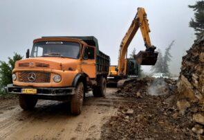 گوشه ای از زحمات کارکنان شرکت گاز گیلان برای گازرسانی به روستاهای شهرستان رودسر