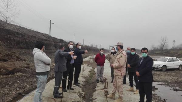بازدید مدیر عامل شرکت آب منطقه ای گیلان از پروژه های عمرانی آب آستارا